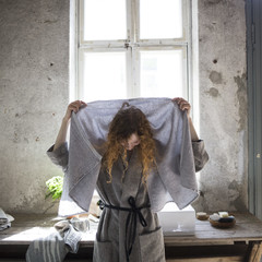 KIVI bathrobe and TERVA towel