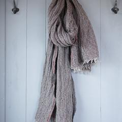 HETA scarf linen-wool