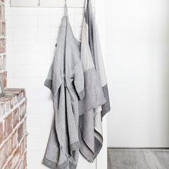 KASTE bathrobe and TERVA towel