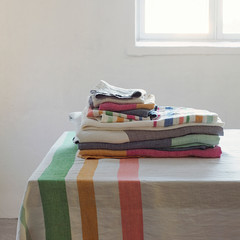 MERU tablecloth, TSAVO and MERU towels