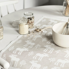 Hirvi towel white-linen