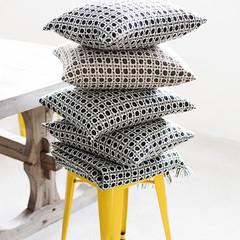 CORONA cushion covers grey-black and beige-brown