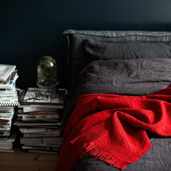 CORONA UNI blanket red