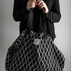 Puikko bag white-black