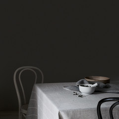 Kaste tablecloth/blanket grey-white