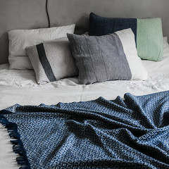 KETO blanket rainy blue-white