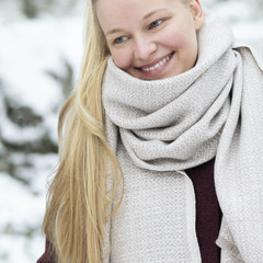 Lapuan Kankurit KOLI merino wool scarf beige-white