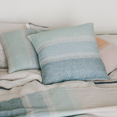 Ruoste cushion cover linen-blue-turquoise