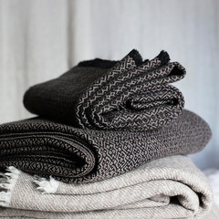 KOLI blanket beige-black