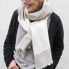 RANTU scarf beige-white