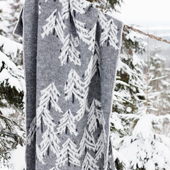 KUUSI blanket grey-white