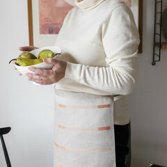 lapuan kankurit LINNEA apron linen-orange