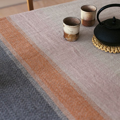 Ruoste blanket/tablecloth linen-rust-grey
