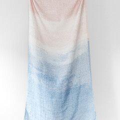 lapuan kankurit saari linen towel rose-rainy blue