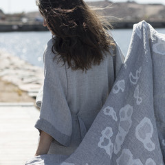 SAIMAANNORPPA towel white-grey