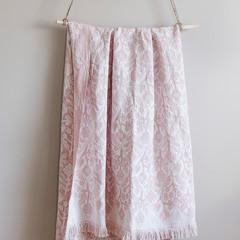KUKAT blanket/tablecloth white-rose