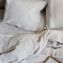 USVA pillow case linen-white