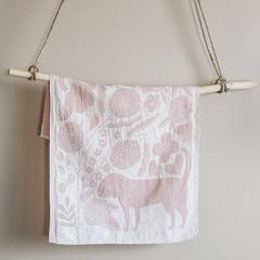 KOIRA JA KISSA towel white-rose
