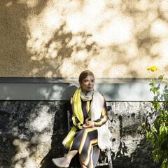 lapuan kankurit TSAVO scarf linen-yellow