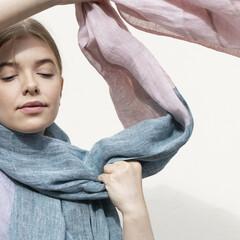 lapuan kankurit TSAVO scarf petroleum-rose