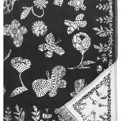 Lapuan Kankurit AAMOS tablecloth-blanket white-black