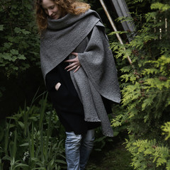 CORONA UNI scarf light grey