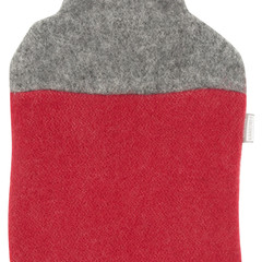 DUO hot water bottle grey-red #nocrop