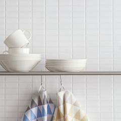 HARLEKIINI towels white-blue-grey and white-yellow-green