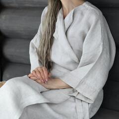lapuan kankurit KASTE bathrobe linen