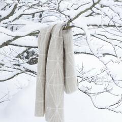 KEHRA blanket beige-white