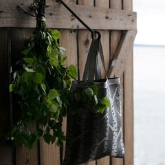 KOIVU bag white-black