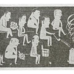 MIESTEN SAUNA seat cover white-black #nocrop