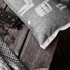 MIESTEN SAUNA sauna pillow white-black
