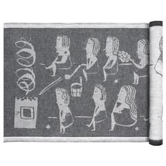 NAISTEN SAUNA sauna cover white-black-linen