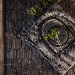 ONNI wash mitten black-linen