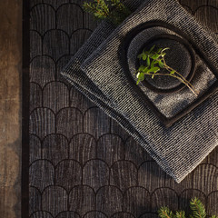 PAANU seat cover black-linen