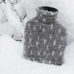 PYRY hot water bottle grey-white
