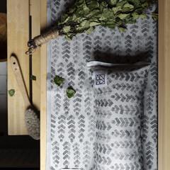 lapuan kankurit RUUSU x HVITTRÄSK sauna cover white-aspen green