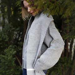 Lapuan Kankurit TANHU pocket shawl light grey-white