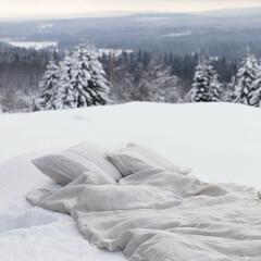 USVA duvet cover linen-white