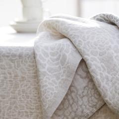 ZINNIA tablecloth white-linen