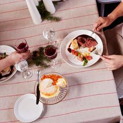 LIISA tablecloth linen-red