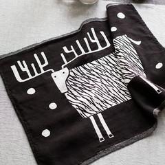 PORO towel white-black