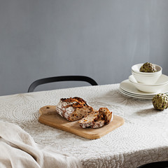 RUUT blanket/ tablecloth white-linen