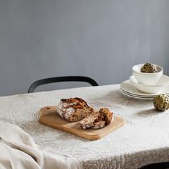 RUUT blanket/ tablecloth white-linen