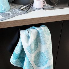 SADE towel white-turquoise
