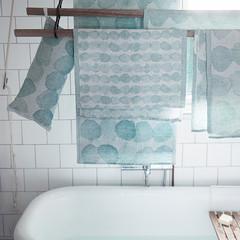 SADEKUURO towel white-turquoise