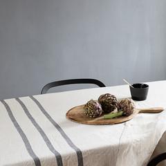 USVA tablecloth/ blanket linen-grey