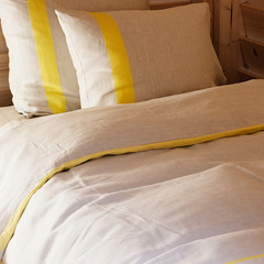 Usva duvet cover linen-yellow