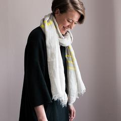 USVA scarf linen-yellow